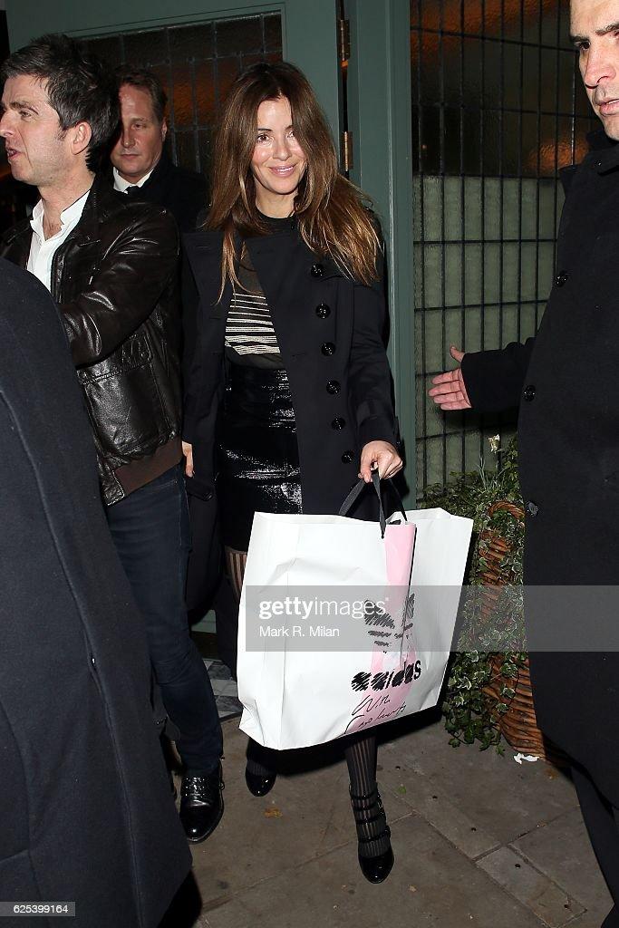 Sara MacDonald leaving the Ivy Chelsea Garden on November 23, 2016 in London, England.