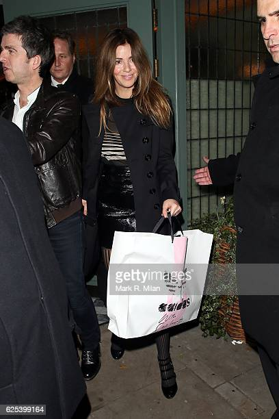 Sara MacDonald leaving the Ivy Chelsea Garden on November 23 2016 in London England