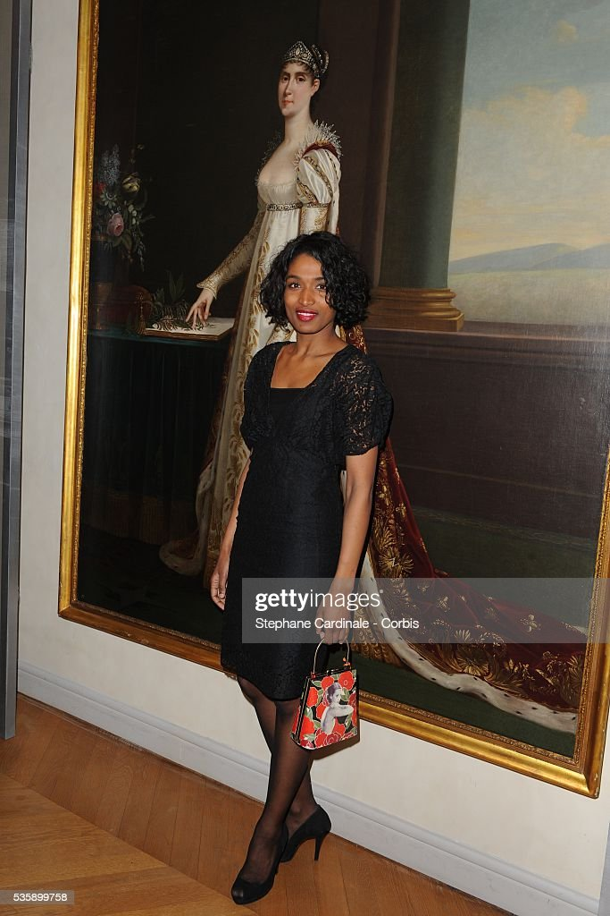 Sara Martins attends the Chaumet Josephine Exhibition Cocktail held in the Salon Chaumet in Paris.