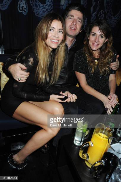 Sara McDonald and Noel Gallagher attend the ChinaWhite reopening party on October 21 2009 in London England