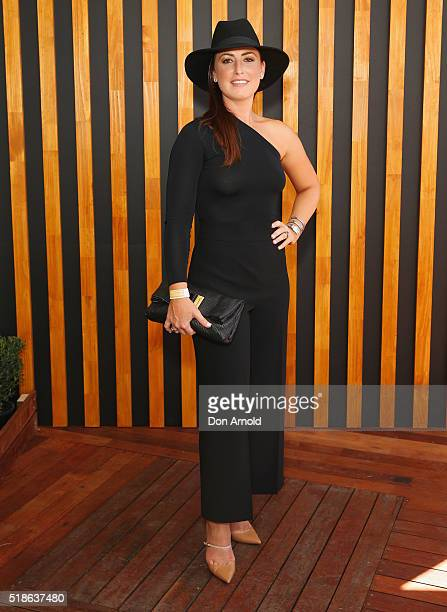 Sara McGrath poses inside the Little Sydney enclosure during The Championships Day 1 at Royal Randwick Racecourse on April 2 2016 in Sydney Australia