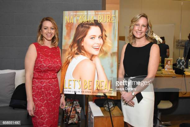Sara Merritt and Annette Bourland attend Natasha Bure 'Let's Be Real' Los Angeles book launch party at Eden By Eden Sassoon on March 24 2017 in Los...