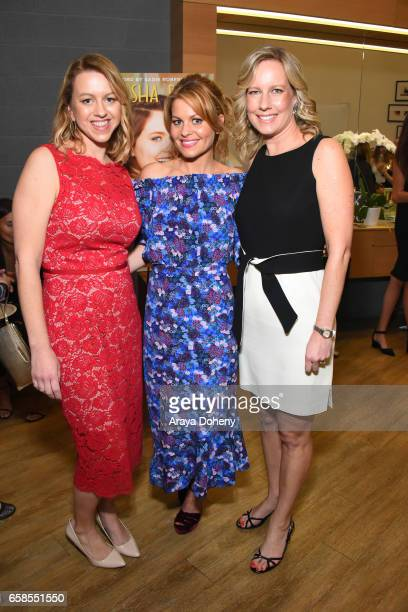 Sara Merritt Candace Cameron and Annette Bourland attend Natasha Bure 'Let's Be Real' Los Angeles book launch party at Eden By Eden Sassoon on March...