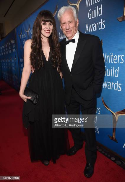 Sara Miler and James Woods attend the 2017 Writers Guild Awards LA Ceremony at The Beverly Hilton Hotel on February 19 2017 in Beverly Hills...
