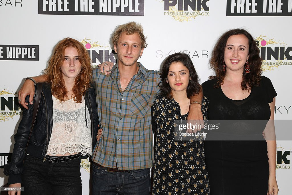 Sara Newman, Nathan Stern, Sophie Tabet and Julia Roth arrive at the 'Free The Nipple' fundraiser at SkyBar at the Mondrian Los Angeles on June 19, 2014 in West Hollywood, California.