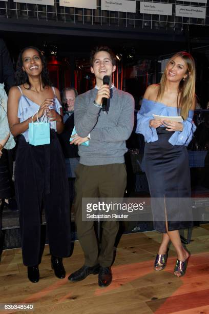 Sara Nuro Tim Oliver Schulz and Wana Limar attend the Young ICONs Award in cooperation with HM and Tiffany's Co at BRLO Brwhouse on February 14 2017...