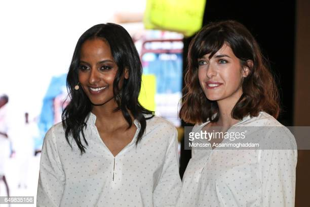Sara Nuru and Marie Nasemann attend the Green Carpet Event of Tchibo on March 8 2017 in Hamburg Germany
