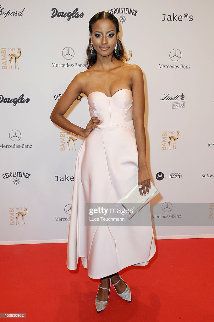 Sara Nuru attends 'BAMBI Awards 2012' at the Stadthalle Duesseldorf on November 22, 2012 in Duesseldorf, Germany.