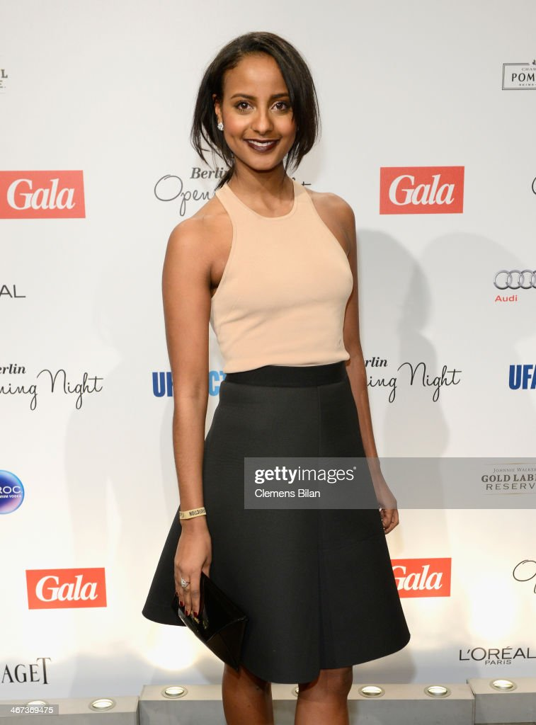 <a gi-track='captionPersonalityLinkClicked' href=/galleries/search?phrase=Sara+Nuru&family=editorial&specificpeople=5862409 ng-click='$event.stopPropagation()'>Sara Nuru</a> attends the Berlin Opening Night Of Gala & Ufa Fiction during the 64th Berlinale International Film Festival at Hotel Das Stue on February 6, 2014 in Berlin, Germany.