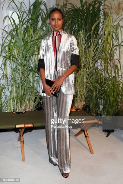 Sara Nuru attends the Dorothee Schumacher show during the MercedesBenz Fashion Week Berlin Spring/Summer 2018 at Kaufhaus Jandorf on July 6 2017 in...