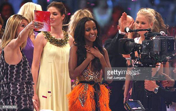 Sara Nuru wins in the PRO7 TV show 'Germany's Next Topmodel Final' at the Lanxess Arena on May 21 2009 in Cologne Germany