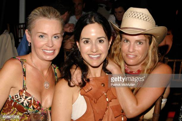 Sara Pesce Haley Binn and Jen Esposito attend the Best Buddies Hamptons Gala at the Home of Anne Hearst McInerney and Jay McInerney on August 21 2009...