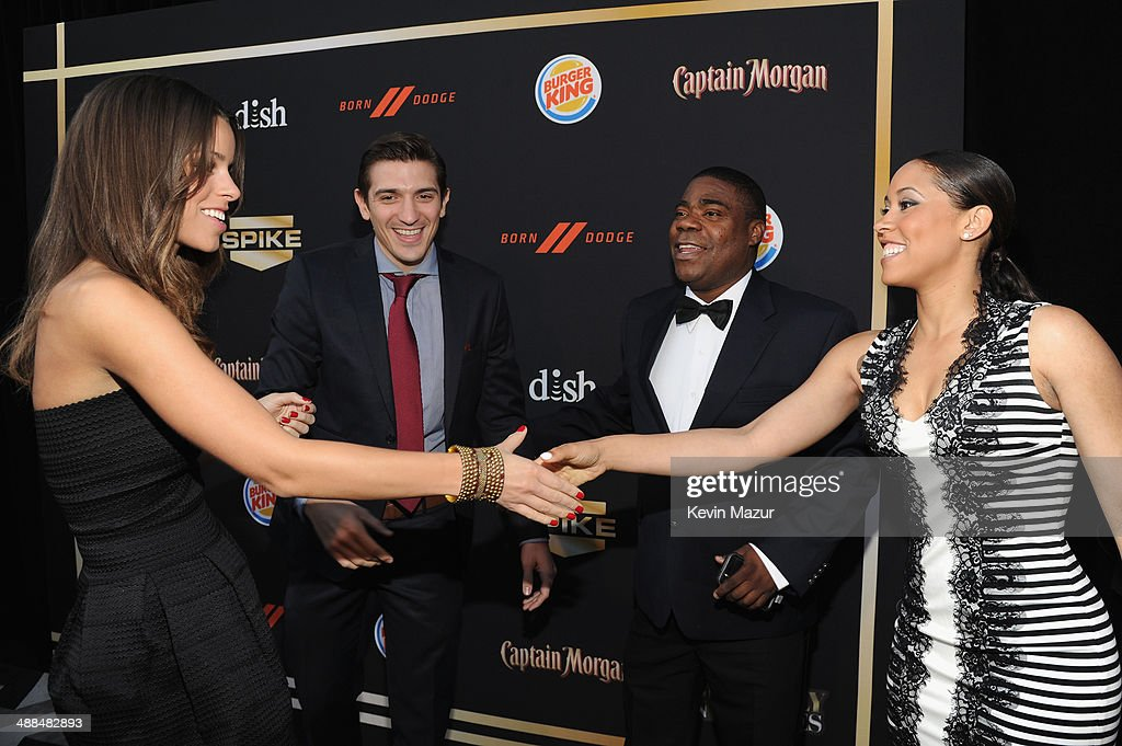 Sara Phillips, Andrew Schulz, <a gi-track='captionPersonalityLinkClicked' href=/galleries/search?phrase=Tracy+Morgan&family=editorial&specificpeople=182428 ng-click='$event.stopPropagation()'>Tracy Morgan</a> and Meghan Wollover attend the Spike TV's 'Don Rickles: One Night Only' on May 6, 2014 in New York City.