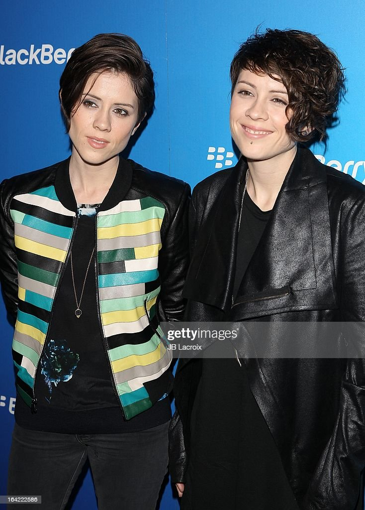 <a gi-track='captionPersonalityLinkClicked' href=/galleries/search?phrase=Sara+Quin&family=editorial&specificpeople=2303840 ng-click='$event.stopPropagation()'>Sara Quin</a> and <a gi-track='captionPersonalityLinkClicked' href=/galleries/search?phrase=Tegan+Quin&family=editorial&specificpeople=2351694 ng-click='$event.stopPropagation()'>Tegan Quin</a> attend the BlackBerry Z10 Smartphone launch party held at at Cecconi's Restaurant on March 20, 2013 in Los Angeles, California.