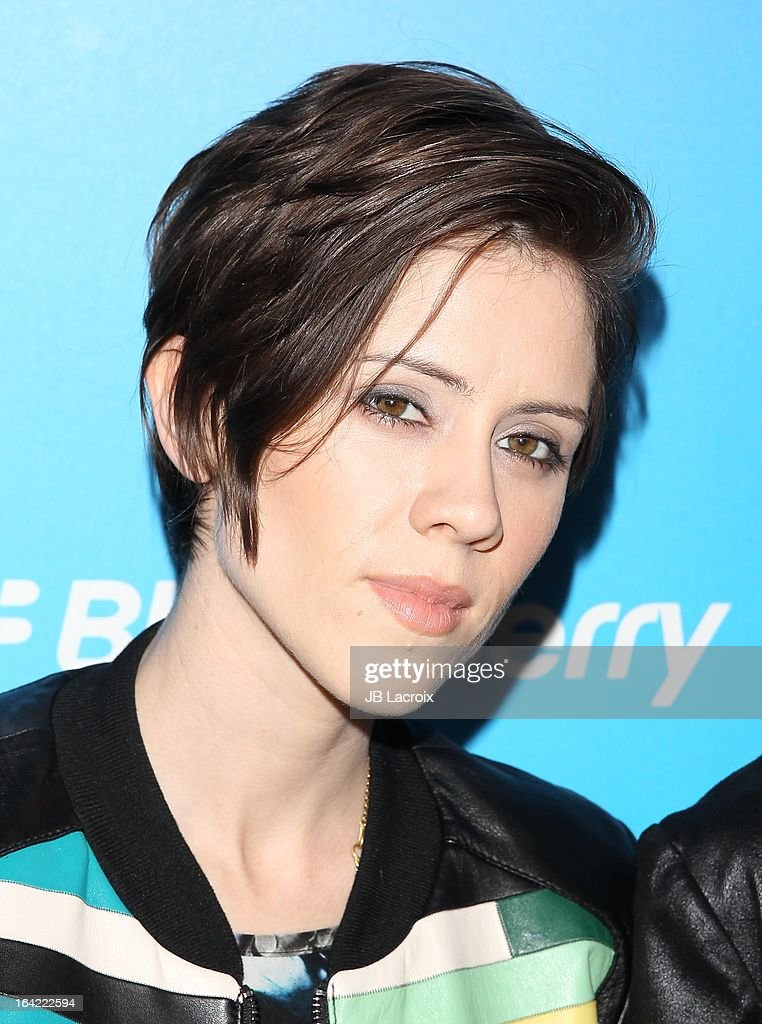 Sara Quin attends the BlackBerry Z10 Smartphone launch party held at at Cecconi's Restaurant on March 20, 2013 in Los Angeles, California.