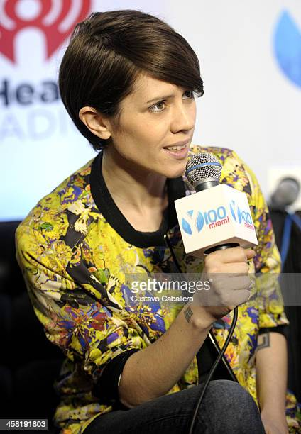 Sara Quin of Tegan and Sara attends Y100's Jingle Ball 2013 Presented by Jam Audio Collection at BBT Center on December 20 2013 in Miami Florida