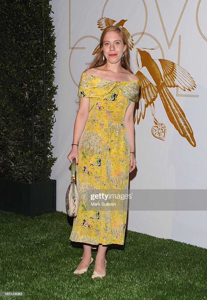 Sara Rafsky arrives at the LOVEGOLD cocktail party to celebrate 'How To Survive A Plague' at Chateau Marmont on February 22, 2013 in Los Angeles, California.