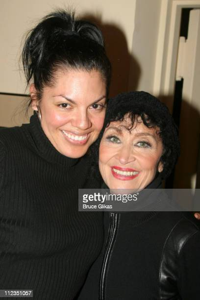 Sara Ramirez and Chita Rivera during Chita Rivera 'A Dancer's Life' on Broadway 'Gypsy' InvitationOnly Performance at The Schoenfeld Theater in New...