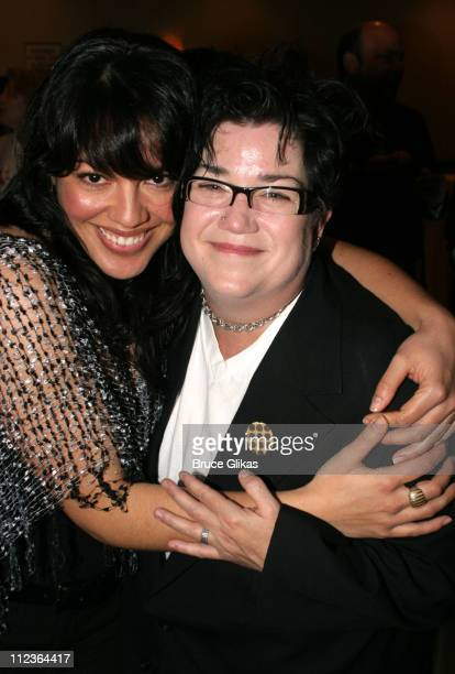 Sara Ramirez and Lea Delaria during 71st Annual Drama League Awards at Marriott Marquis Hotel in New York NY United States