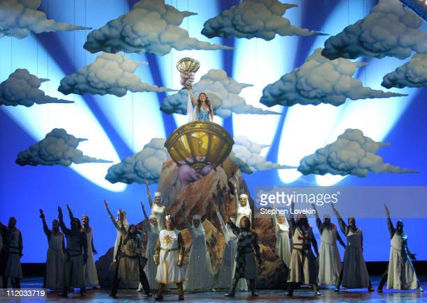 Sara Ramirez and the Cast of 'Monty Python's Spamalot'