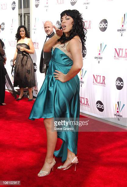 Sara Ramirez during 2006 NCLR ALMA Awards Arrivals at Shrine Auditorium in Los Angeles California United States