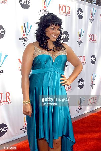 Sara Ramirez during 2006 NCLR ALMA Awards Red Carpet at Shrine Auditorium in Los Angeles California United States