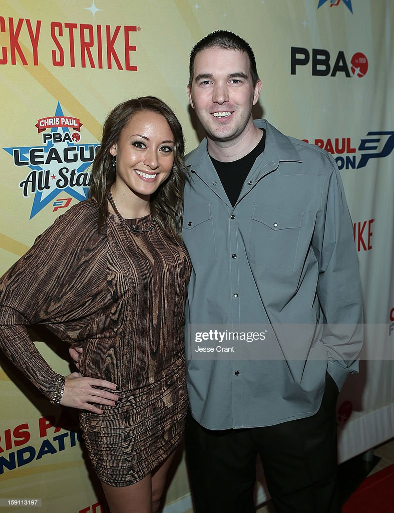 Sara Rash and Sean Rash attend the 2013 Chris Paul PBA League All-Stars Invitational Bowling Tournament at Lucky Strike Lanes at L.A. Live on January 7, 2013 in Los Angeles, California.