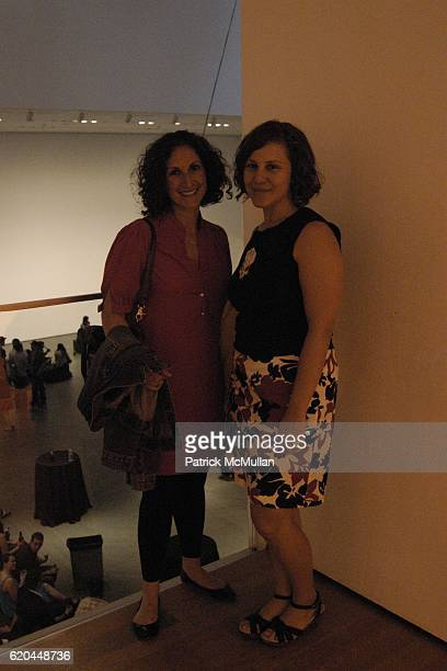 Sara Reden and Nicole Blonder attend Sigur Ros Performance at MoMA on June 17 2008 in New York City