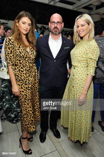 Sara Riff THE OUTNET's Andres Sosa and Ali Wise attend THE OUTNET x Amber Valletta at Waldorf Astoria Beverly Hills on October 19 2017 in Beverly...