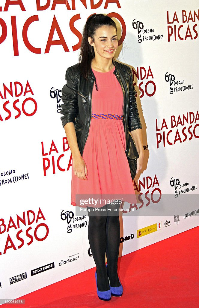 Sara Rivero attends 'La Banda Picasso' premiere on January 24, 2013 in Madrid, Spain.