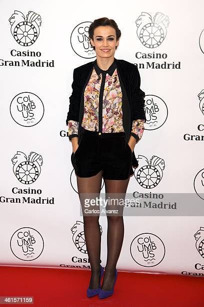 Sara Rivero attends the Casino Gran Madrid Colon opening on January 9 2014 in Madrid Spain