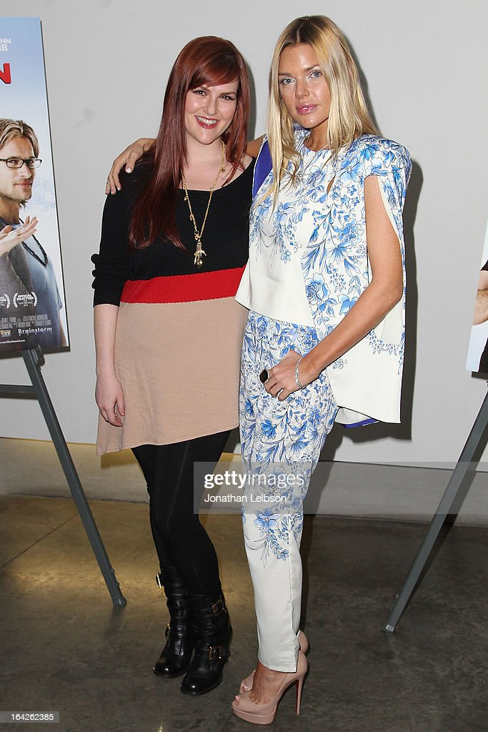 Sara Rue and Sophie Monk attend the 'Dorfman In Love' Los Angeles premiere at Downtown Independent Theatre on March 21 2013 in Los Angeles California