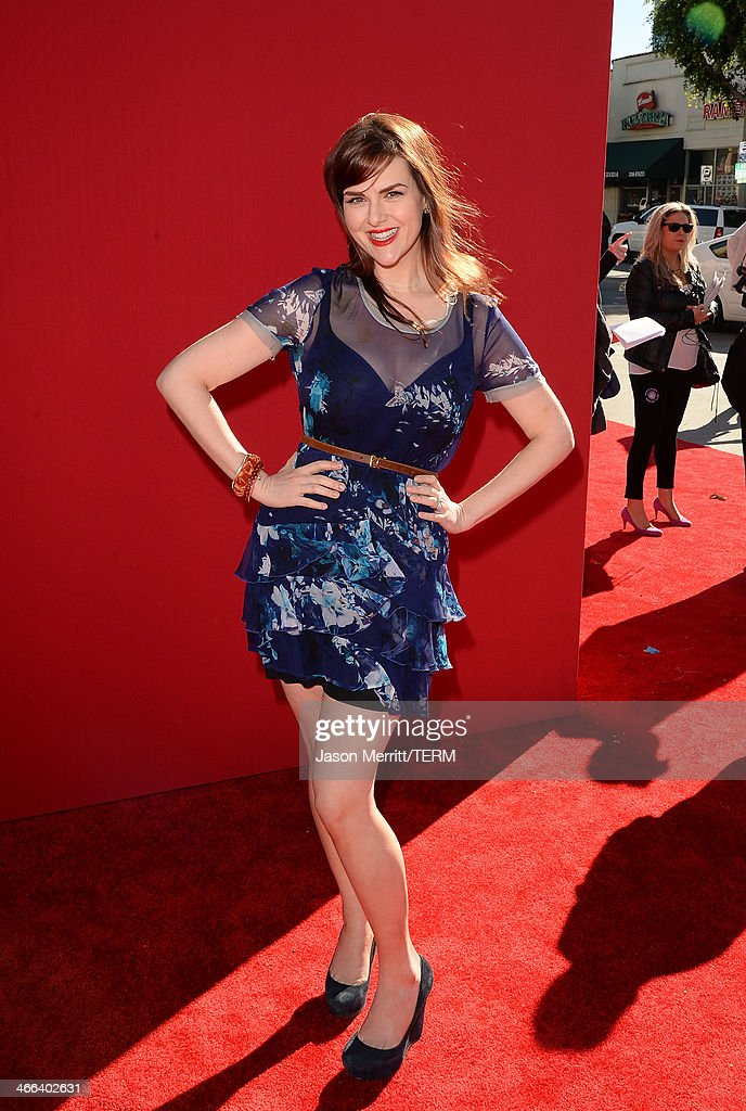 Sara Rue attends the premiere of 'The LEGO Movie' at Regency Village Theatre on February 1, 2014 in Westwood, California.