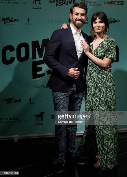 Sara Salamo and Daniel Muriel attends 'Como La Espuma' Madrid Photocall on May 30 2017 in Madrid Spain