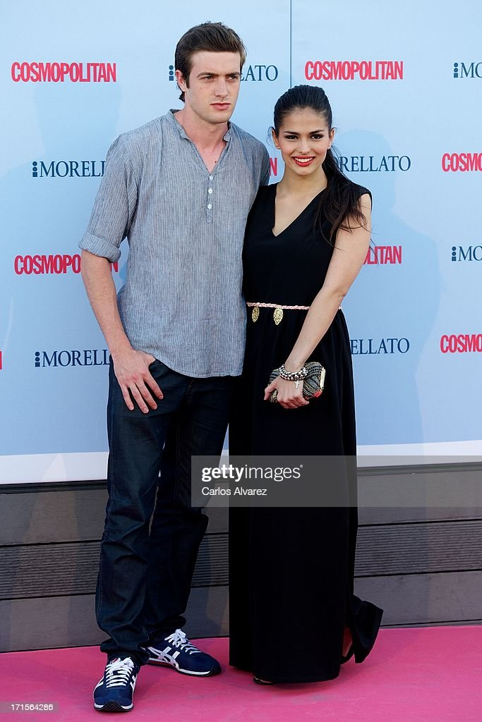 Sara Salamo and Raul Merida attend the 'Cosmopolitan Fragance Awards' 2013 at the Circulo de Bellas Artes on June 26, 2013 in Madrid, Spain.