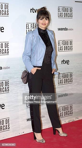 Sara Salamo attends 'El faro de las orcas' premiere at Capitol cinema on December 13 2016 in Madrid Spain