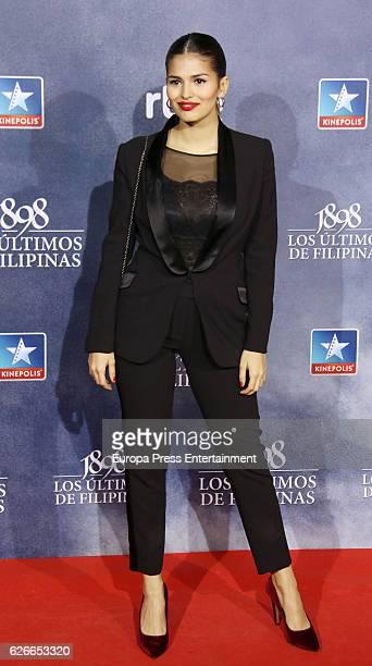 Sara Salamo attends the '1898 Los Ultimos De Filipinas' premiere at Kinepolis cinema on November 29 2016 in Madrid Spain