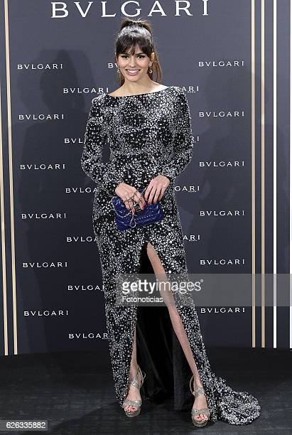 Sara Salamo attends the 'Bvlgari y Roma' exhibition presentation at the Italian Embassy on November 28 2016 in Madrid Spain