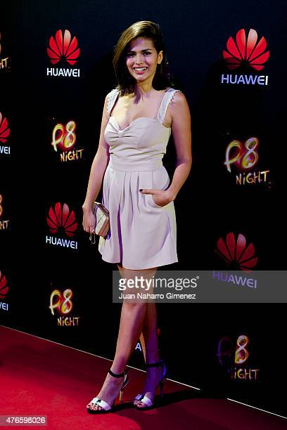 Sara Salamo attends the Huawei P8 presentation party at Bodevil theatre on June 10 2015 in Madrid Spain