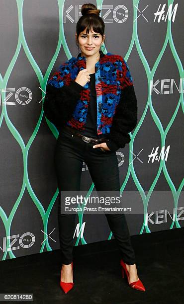 Sara Salamo attends the Kenzo X HM photocall at HM store on November 2 2016 in Madrid Spain