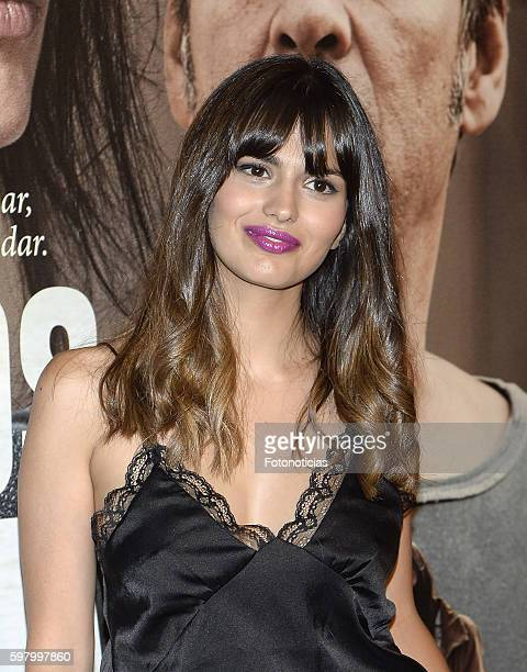 Sara Salamo attends the 'Lejos del Mar' premiere at Palafox cinema on August 30 2016 in Madrid Spain