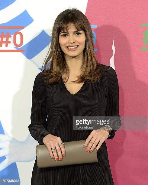 Sara Salamo attends the Movistar New Channel presentation at Telefonica Flagship Store on January 28 2016 in Madrid Spain