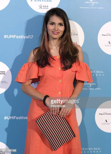 Sara Salamo attends The Pretenders Universal Music Festival concert al The Royal Theater on July 24 2017 in Madrid Spain