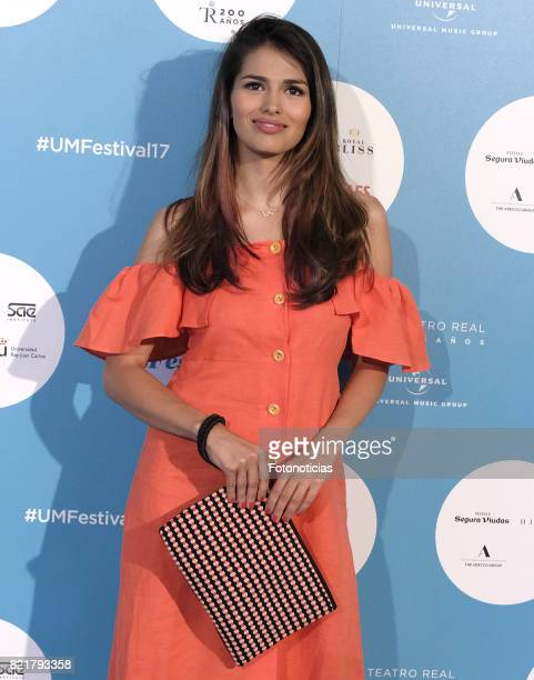 Sara Salamo attends the The Pretenders Universal Music Festival concert a The Royal Theater on July 24 2017 in Madrid Spain