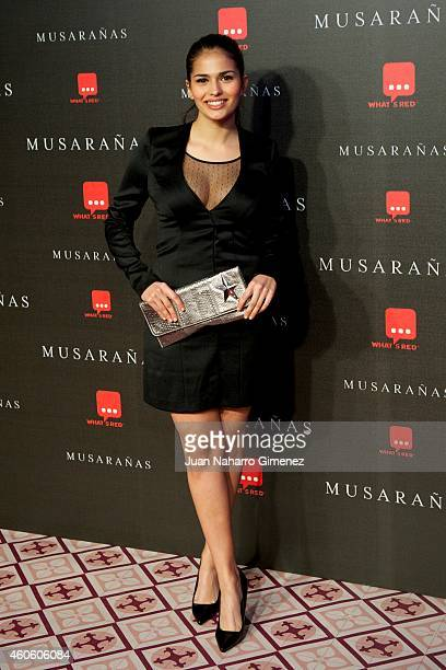Sara Salomo attends the 'Musaranas' premiere at the Capitol cinema on December 17 2014 in Madrid Spain