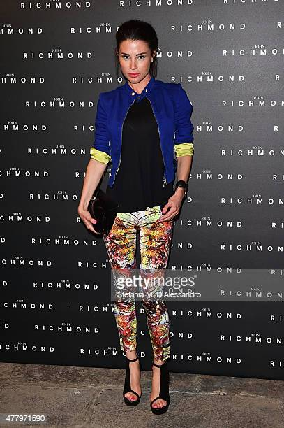 Sara Salvi attends the John Richmond show during the Milan Men's Fashion Week Spring/Summer 2016 on June 21 2015 in Milan Italy