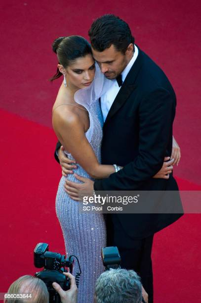 Sara Sampaio and Oliver Ripley attend the '120 Beats Per Minute ' screening during the 70th annual Cannes Film Festival at Palais des Festivals on...