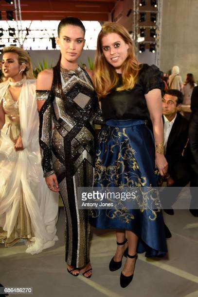 Sara Sampaio and Princess Beatrice of York attend the Fashion for Relief event during the 70th annual Cannes Film Festival at Aeroport Cannes...