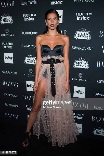 Sara Sampaio attends 2017 Harper's Bazaar Icons at The Plaza Hotel on September 8 2017 in New York City