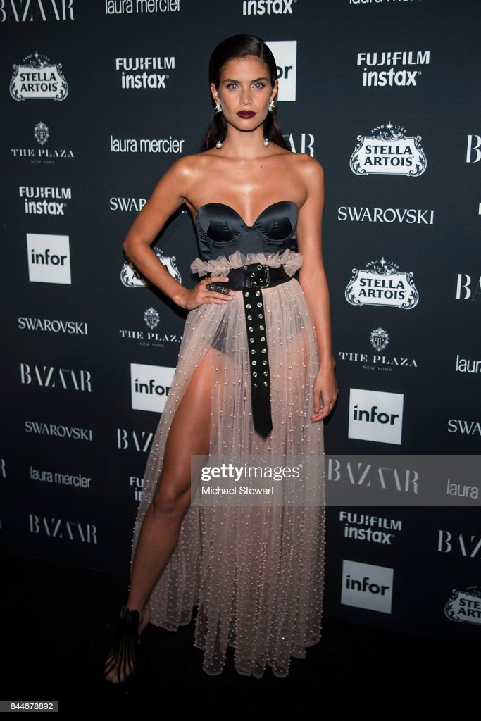 Sara Sampaio attends 2017 Harper's Bazaar Icons at The Plaza Hotel on September 8, 2017 in New York City.